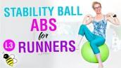 5 minute stability ball ABS + GLUTES workout for RUNNERS