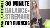 BALANCE + STRENGTH for RUNNERS | 30 Minute Full Length Workout with DUMBBELLS + STABILITY BALL