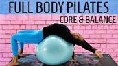 30 MIN PILATES TO LOSE WEIGHT (POSTURE CORRECTOR) | EXERCISE BALL WORKOUT AT HOME
