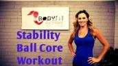 15 Minute Stability Ball Core Workout to Strengthen and Tone Abs