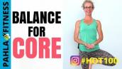 BALANCE Party! 🎉 10 Minute Core Strength Training for ABS + GLUTES | HOT 100 Challenge Day 90