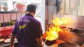 Egg Fried Rice Chinese Restaurant Style Sunny Side Up Fried Egg Street Food Penang Malaysia  翰记猪油蛋炒饭