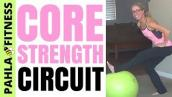 20 Minute CORE STRENGTHENING Stability Ball Circuit | Simple + Effective Home Workout for ABS + BUTT