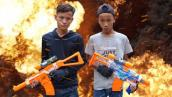 NERF WAR FREE FIRE IS REAL BATTLE 2