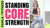 All Standing STABILITY BALL Core Workout for RUNNERS | Get LEAN + STRONG | 10 Minutes per Round