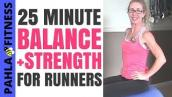 BALANCE + Strength for RUNNERS | 25 Minute Stability Ball Workout to Get STRONGER and Run FASTER